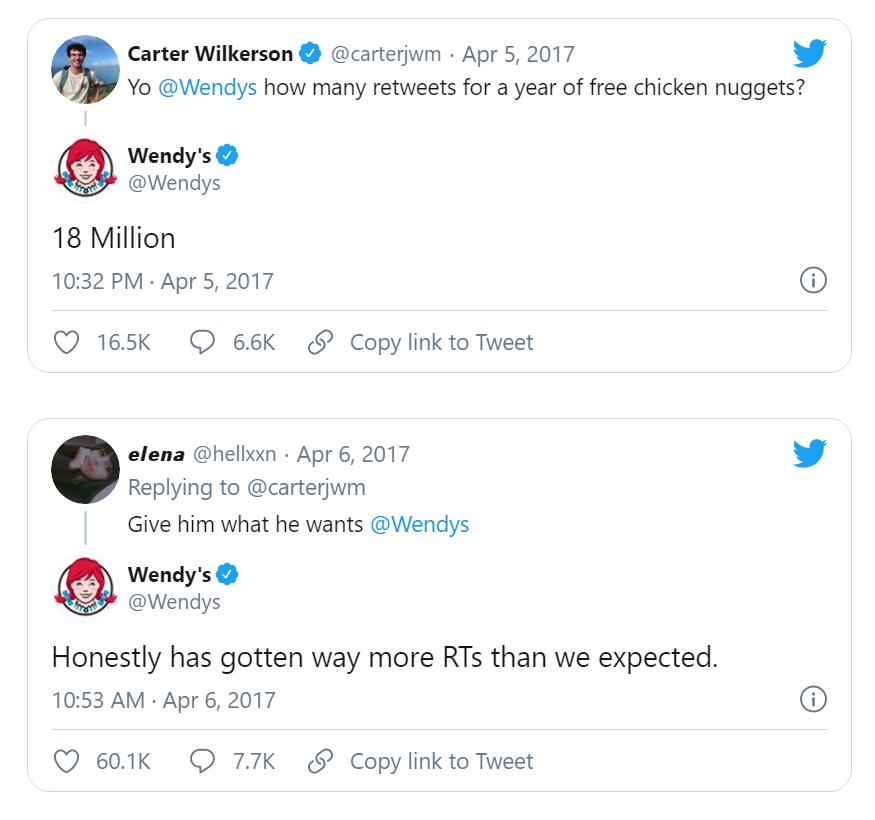 Wendys on Twitter