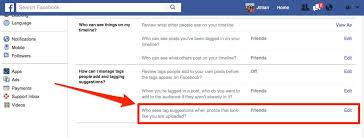 deactivate facebooks auto tag