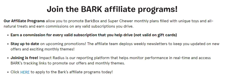 Barkbox affiliate
